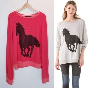 Wildfox Couture Barefoot Stallion Sweatshirt red